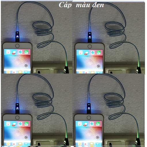 Cáp sạc dạ quang cho iPhone iPad iPod có đèn LED hình mặt cười - H_Shop_VN