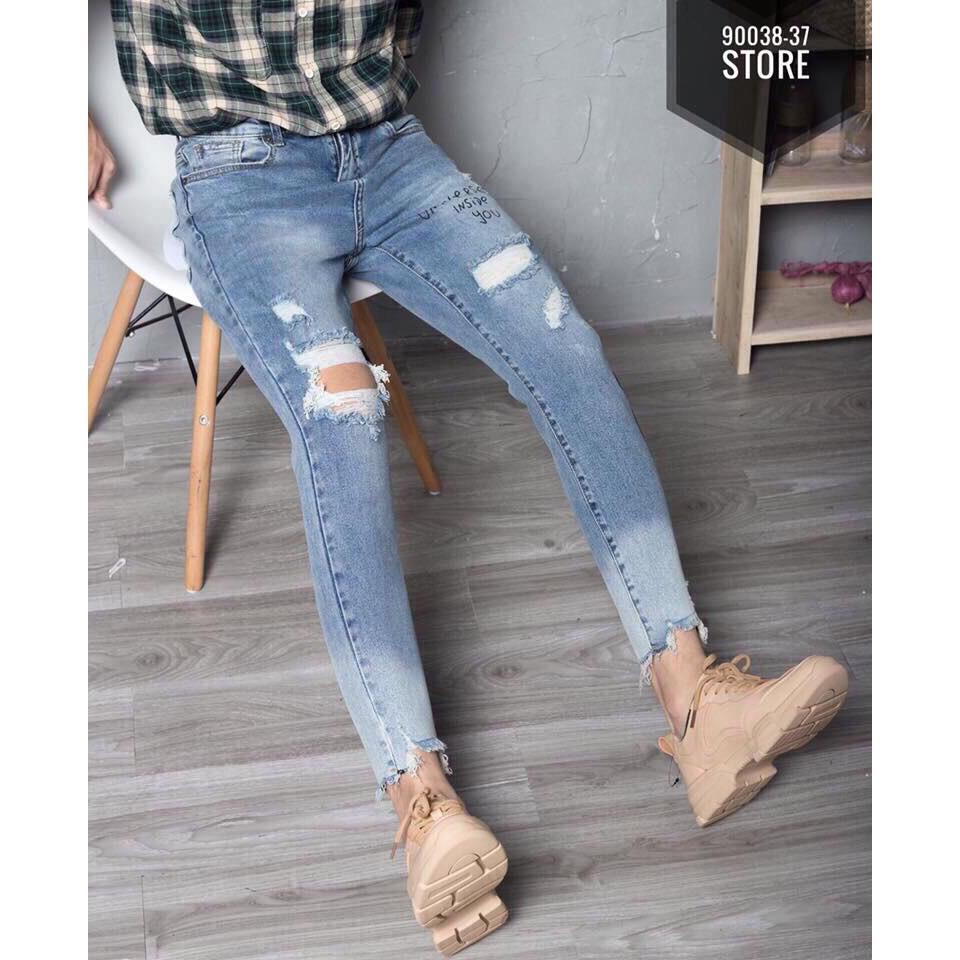 Quần Jeans Nam Wash Kiểu Phong Cách,Cá Tính
