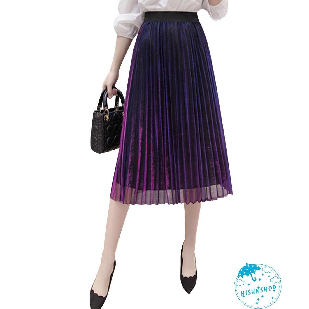 Chân váy xòe nhiều lớp lưng cao thời trang dành cho nữ