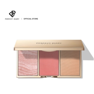 Hình ảnh Perfect Diary 3-in-1 Sculpting Glow Face Highlighter & Blush Contour Powder Palette Face Makeup 2 Shades 0.15g