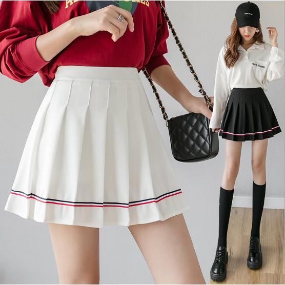 Chân váy tennis phối sọc đủ size