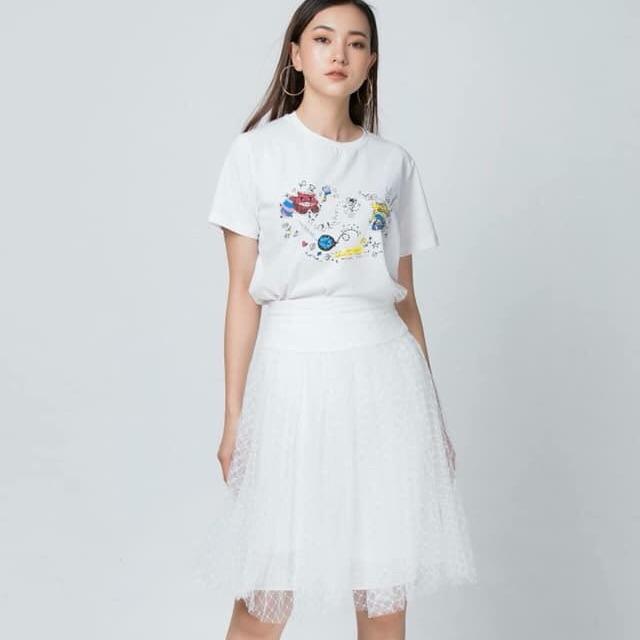 Pass chân váy trắng Elise szM