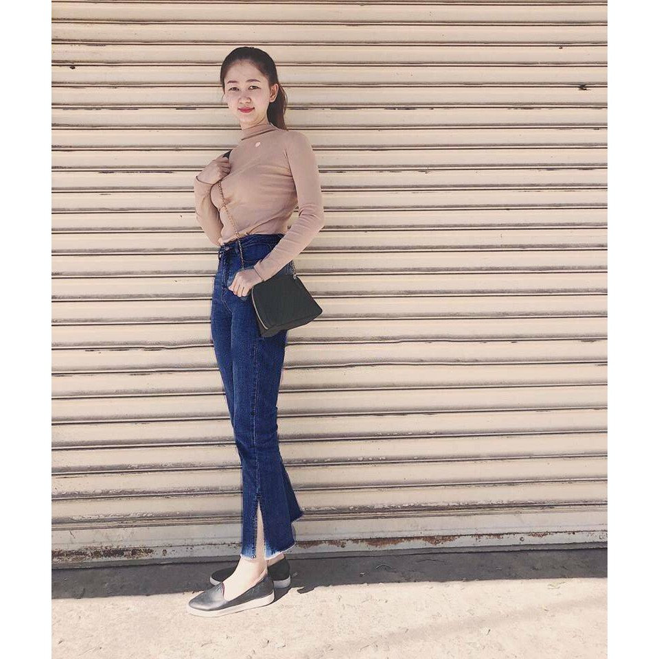 Quần jeans ống loe combo