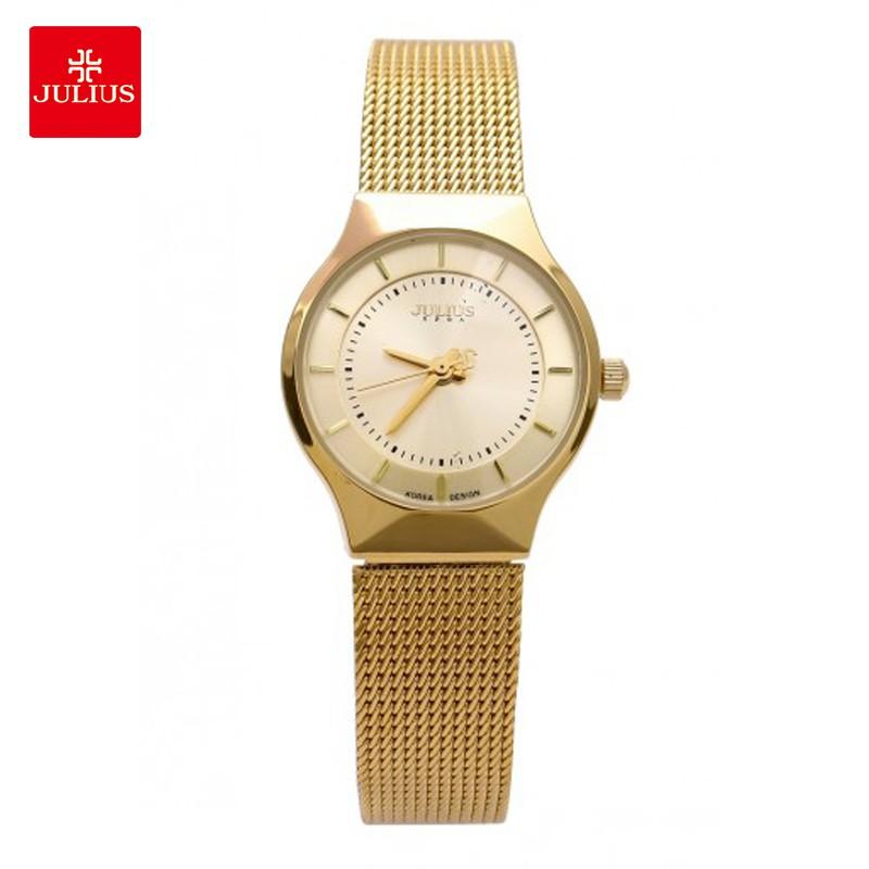 Đồng hồ nữ JULIUS JA577 dây thép vàng