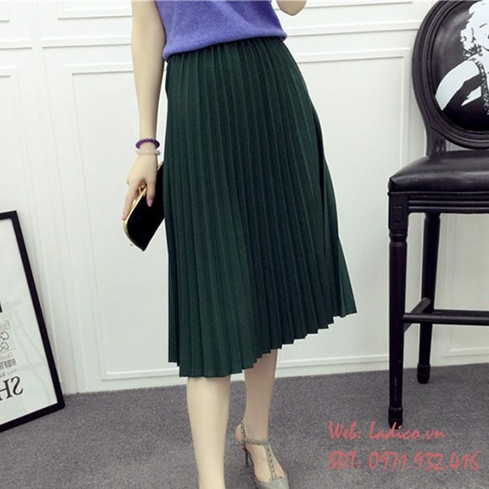 Chân váy Maxi xếp ly - Hàng Quảng Châu