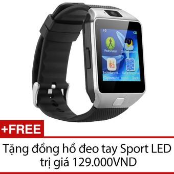 Đồng hồ thông minh DZ09 đen bạc