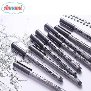 Hình ảnh Annami 1 Piece Hand-Painted Gel Pen Waterproof Black Pen Writing Drawing Sketch Pen Supplies Stationery