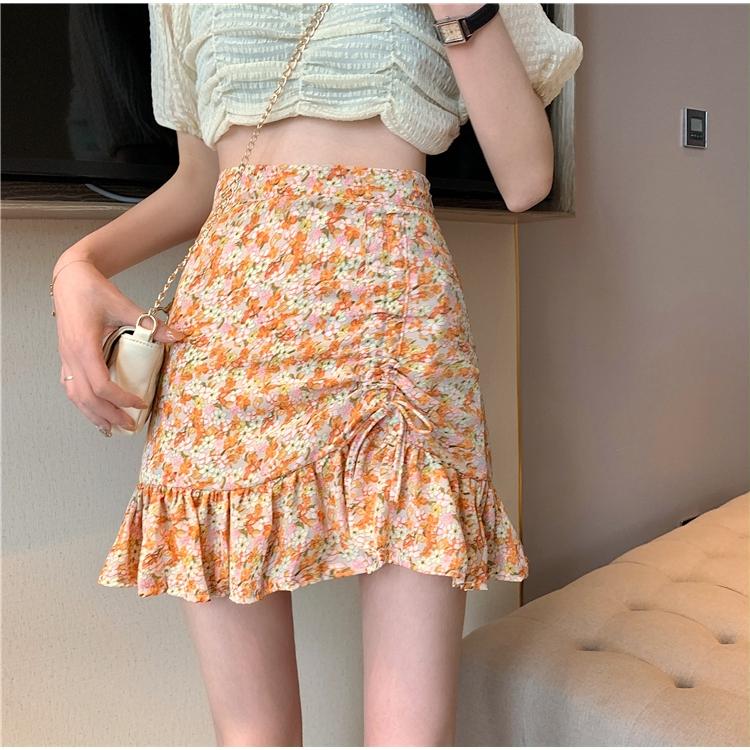 Chân Váy Hoa Phong Cách Retro Hàn Quốc