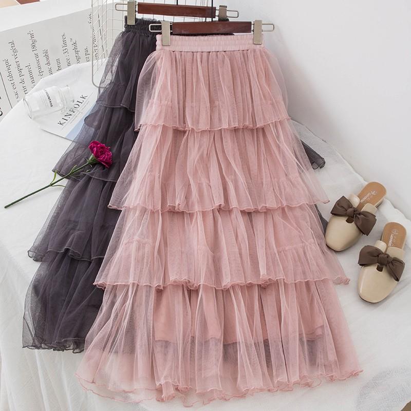 Chân váy tâng dài , hàng quãng châu , có sẵn