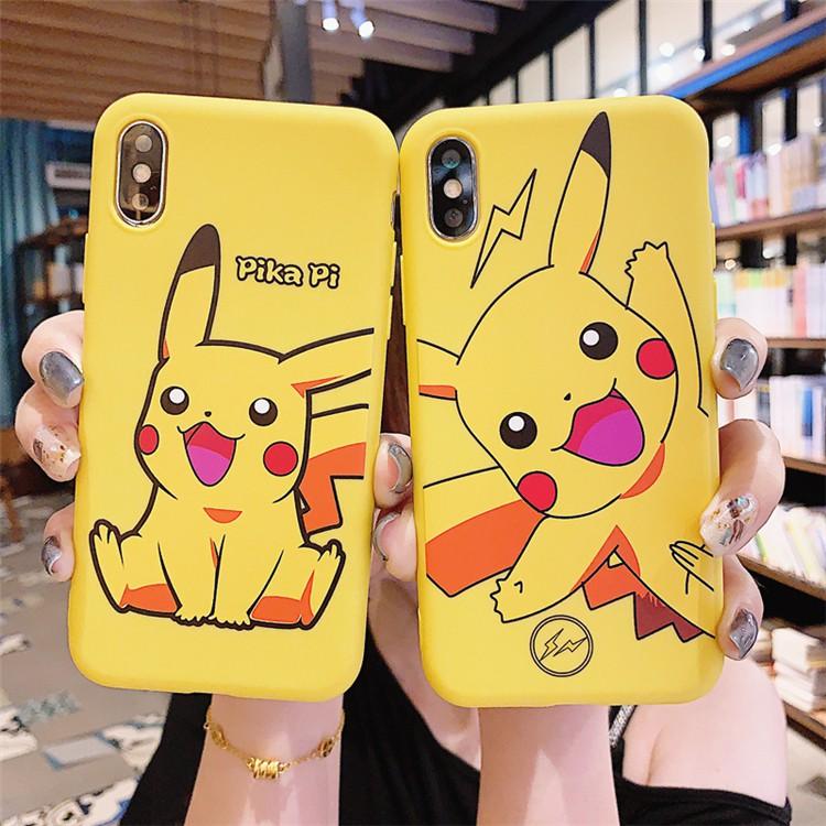 ốp lưng Samsung Galaxy J7 2017 J6 Plus J5 J4 J3 Pro J2 Prime J1 2016 Korea Cartoons Pikachu Couple jelly Phone Case