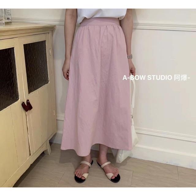 Chân váy dài 2m hồng ,trắng