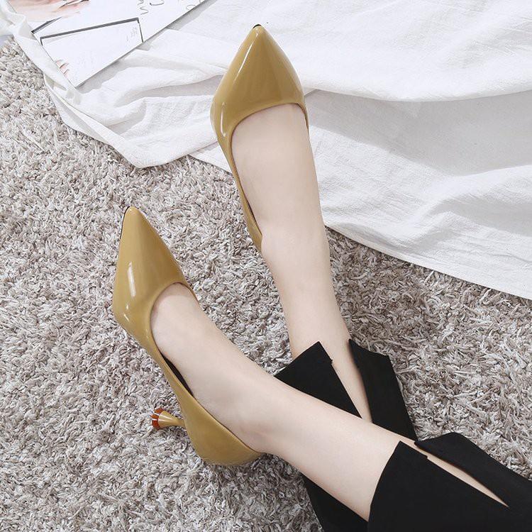 (Oder) gót 6.5 cm, size 35 - 40, có ảnh thật, video - Giày cao gót nữ Hàn Quốc - XT0115