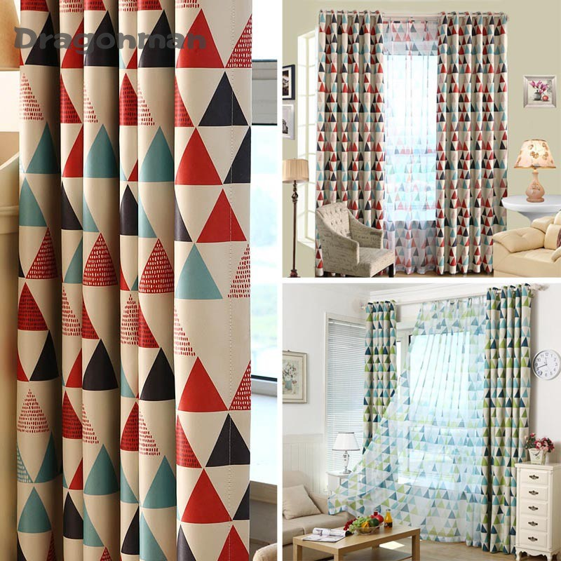 Geometric Custom Curtain Contemporary Curtains for Living Room Bedroom Shading Nordic Style