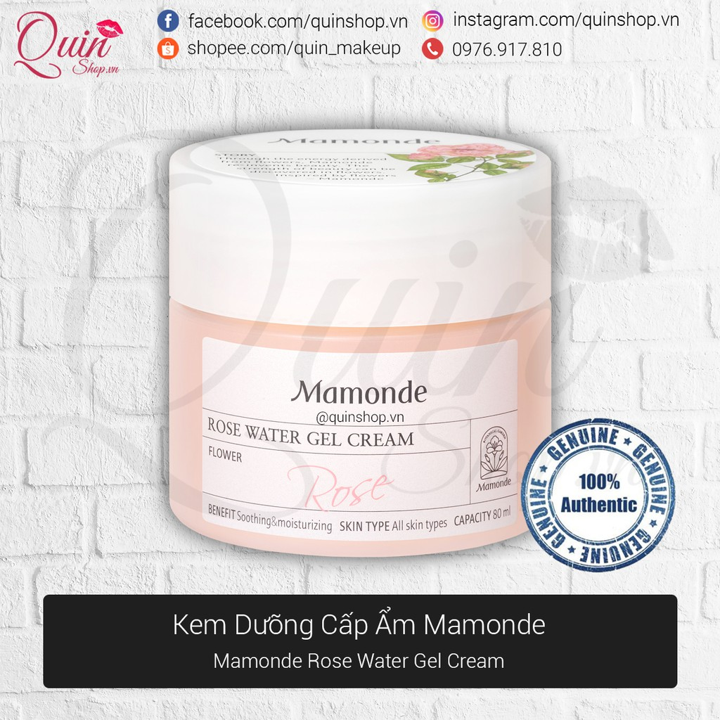 [Quin Cosmetics] Kem Dưỡng Mamonde Rose Water Gel Cream