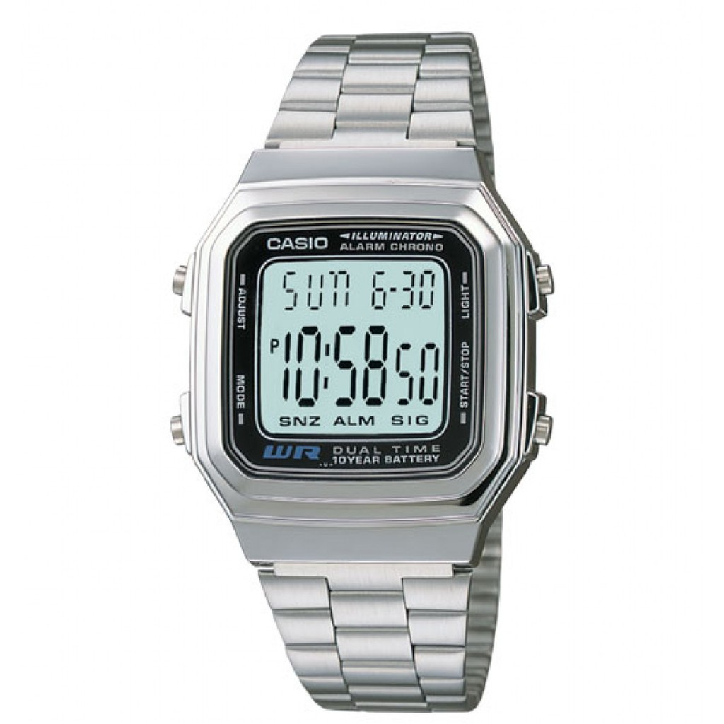[Mã WTCHMALLTET hoàn 100k xu đơn 499K] Đồng hồ Casio chính hãng nam A178WA-1ADF
