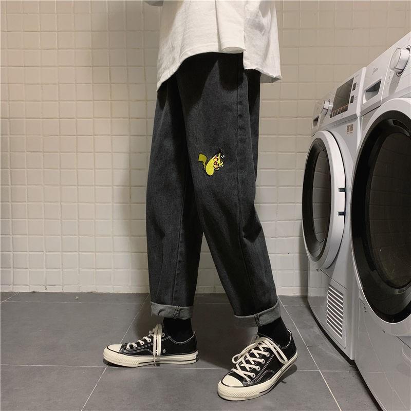 Quần Jeans Ống Rộng Thời Trang Năng Động Cho Nam