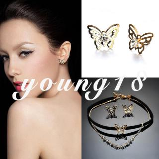 Hình ảnh Forever Young Jewelry Suit Chic Sexy Ear Studs Pendant Necklace Gifts Love