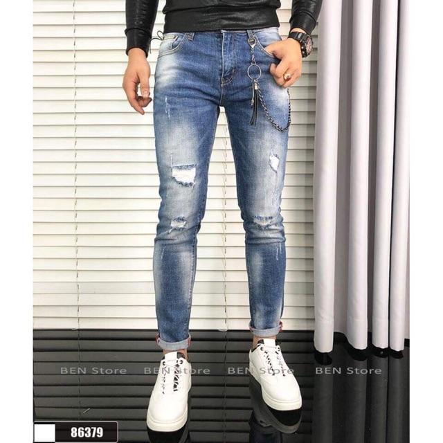 Quần jean nam phong cách trẻ trung mẫu mới 8639
