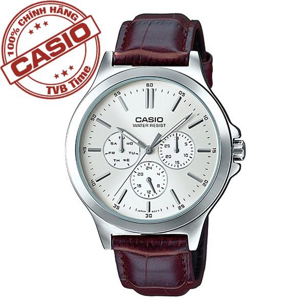 [Mã WTCHMALLTET hoàn 100k xu đơn 499K] Đồng hồ nam dây da Casio Standard Anh Khuê MTP-V300L-7AUDF