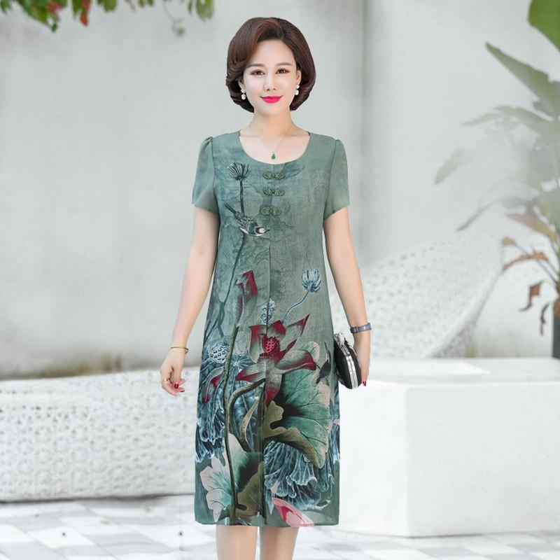 TTN007 đầm váy trung niên sang chảnh DAT HANG