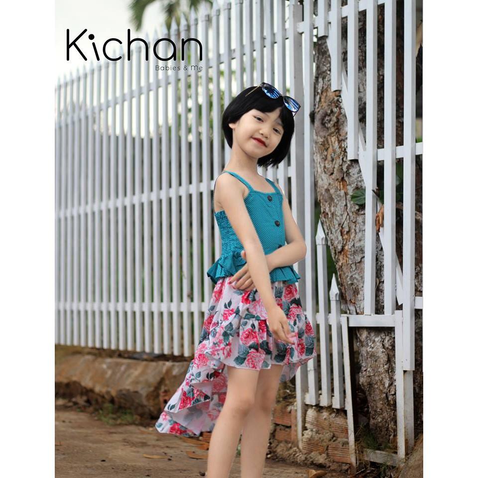Váy cho bé gái Set áo hai dây + chân váy