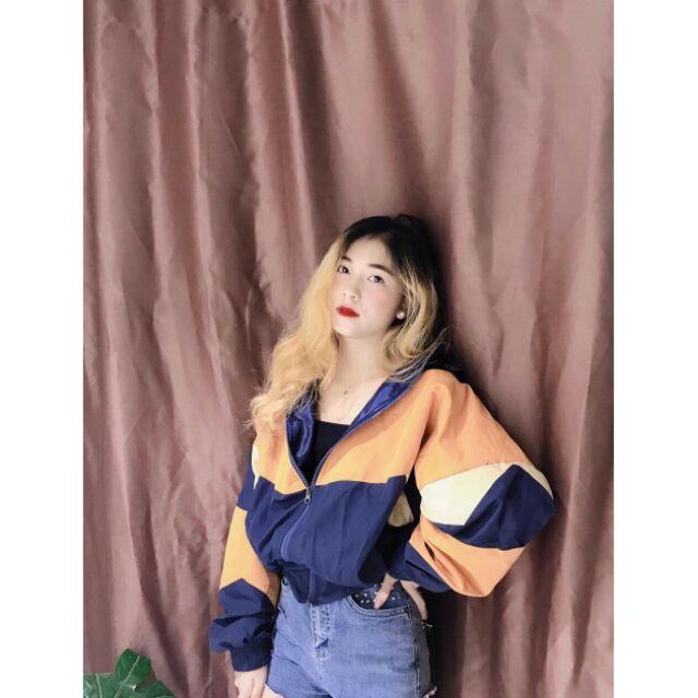 áo khoác dù phối (kèm ảnh thật chụp sàn)