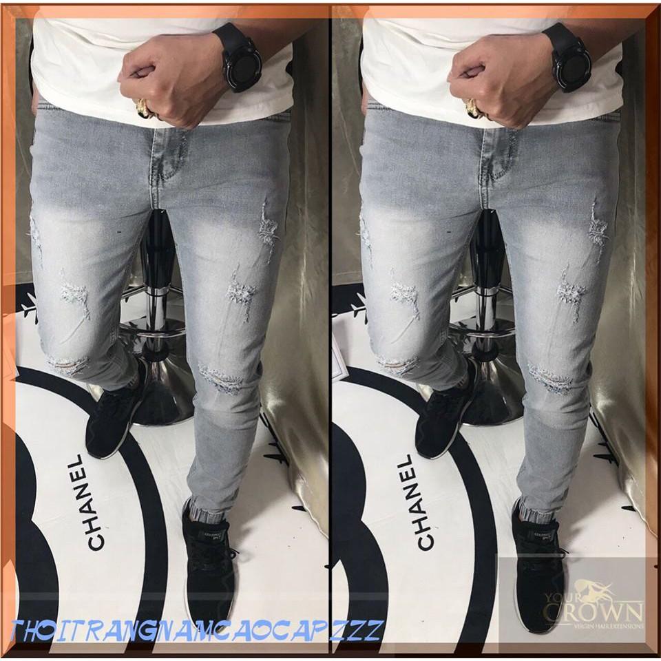 ( TẠI SAO NƯỚC BIỂN LẠI MẶN…) Quần Jeans Ôm Nam Cao Cấp Co Giãn Không Ra Màu,quần jean nam ôm đen