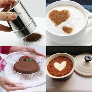 HMDC_Stainless Steel Chocolate Shaker Flour Powder Icing Sugar Coffee Sifter + Lid