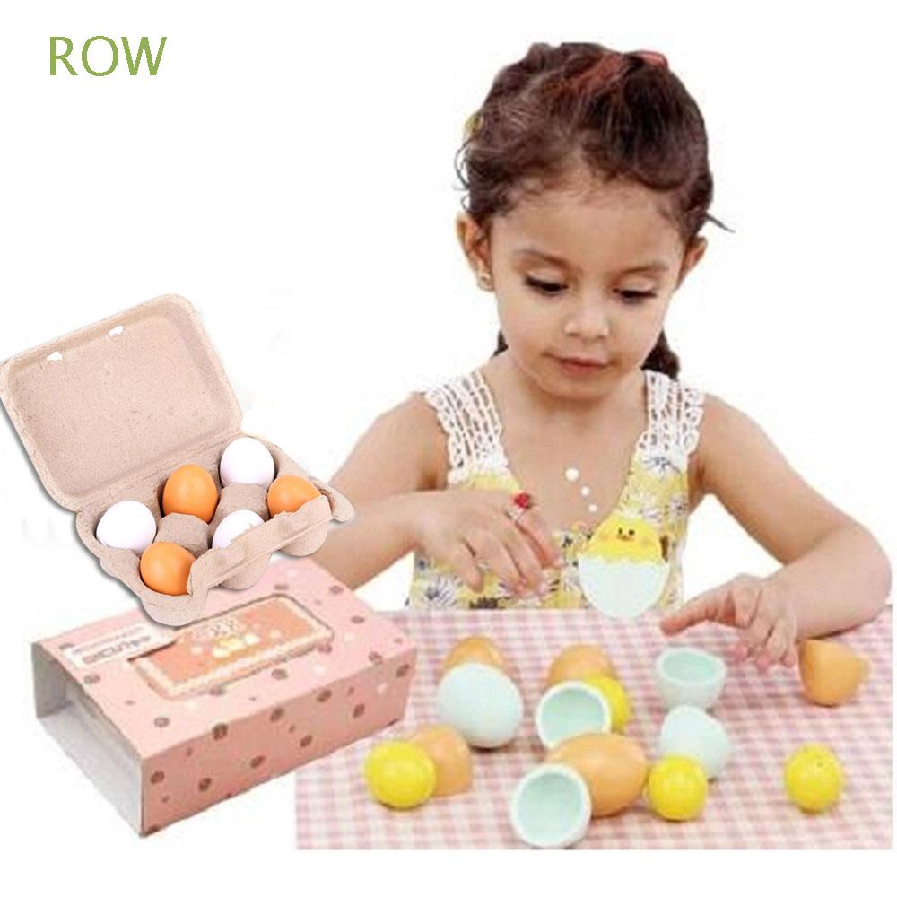 ROW 6pcs/set Kids Funny Cooking Children Kitchen Simulation Egg Group