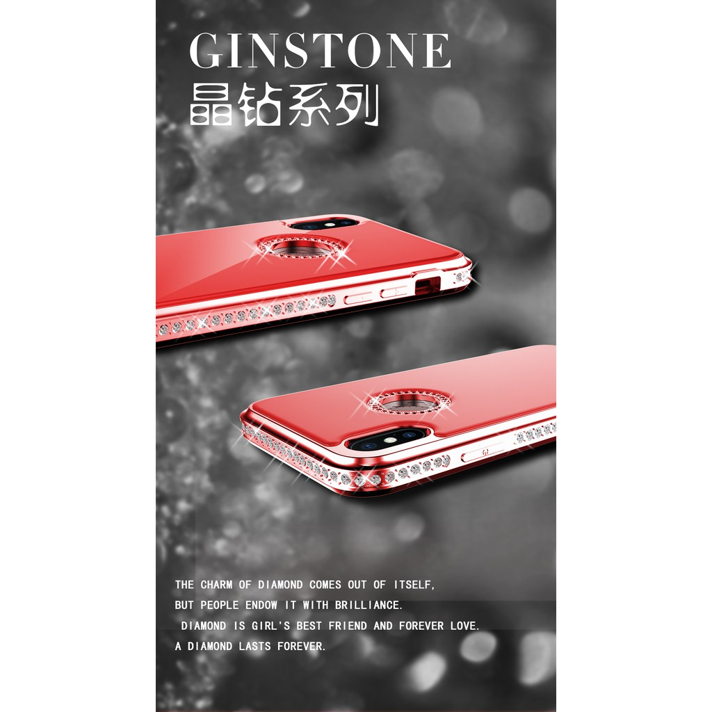 WK Ginstone Luxury Sparkle Diamond Phone Case Full Protection Cover for iPhone