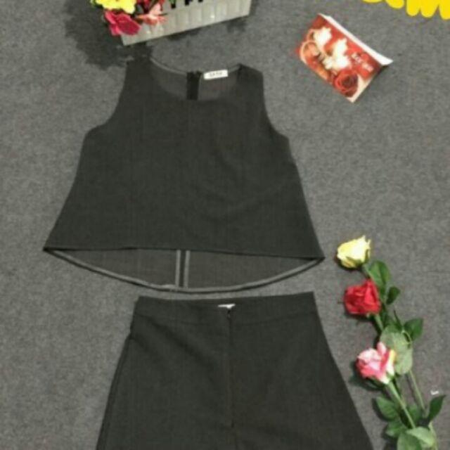 Set áo vạc bầu + quần sọt