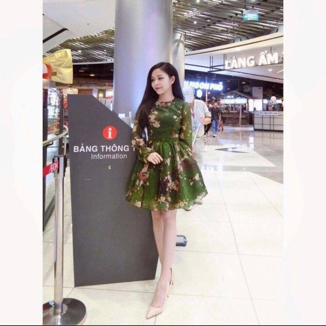 Đầm hoa mai xoè Quảng Châu cao cấp thanh lý