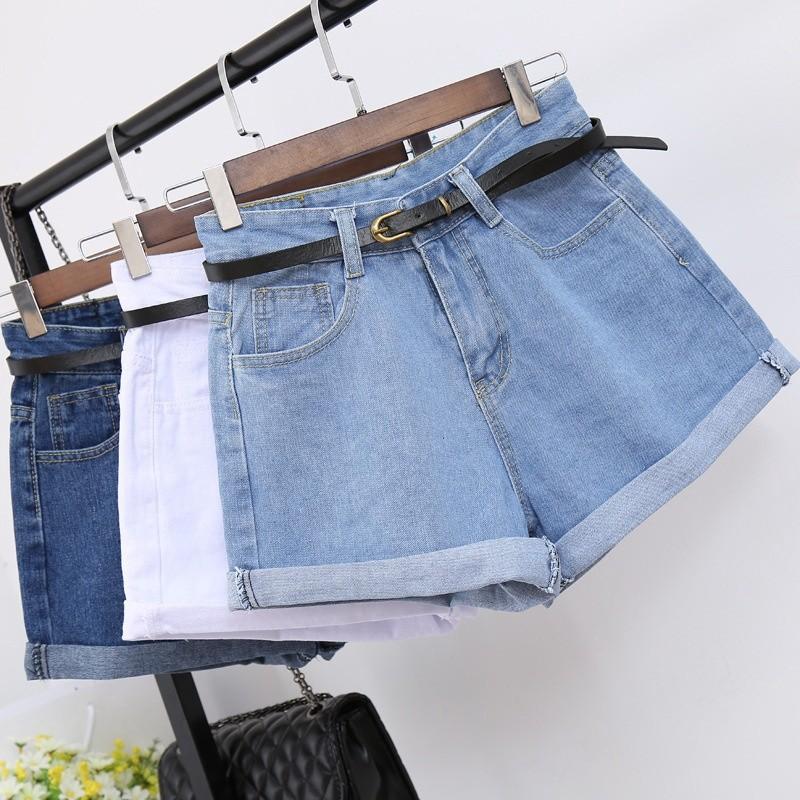 Quần jeans ngắn ống rộng thời trang dành cho nữ