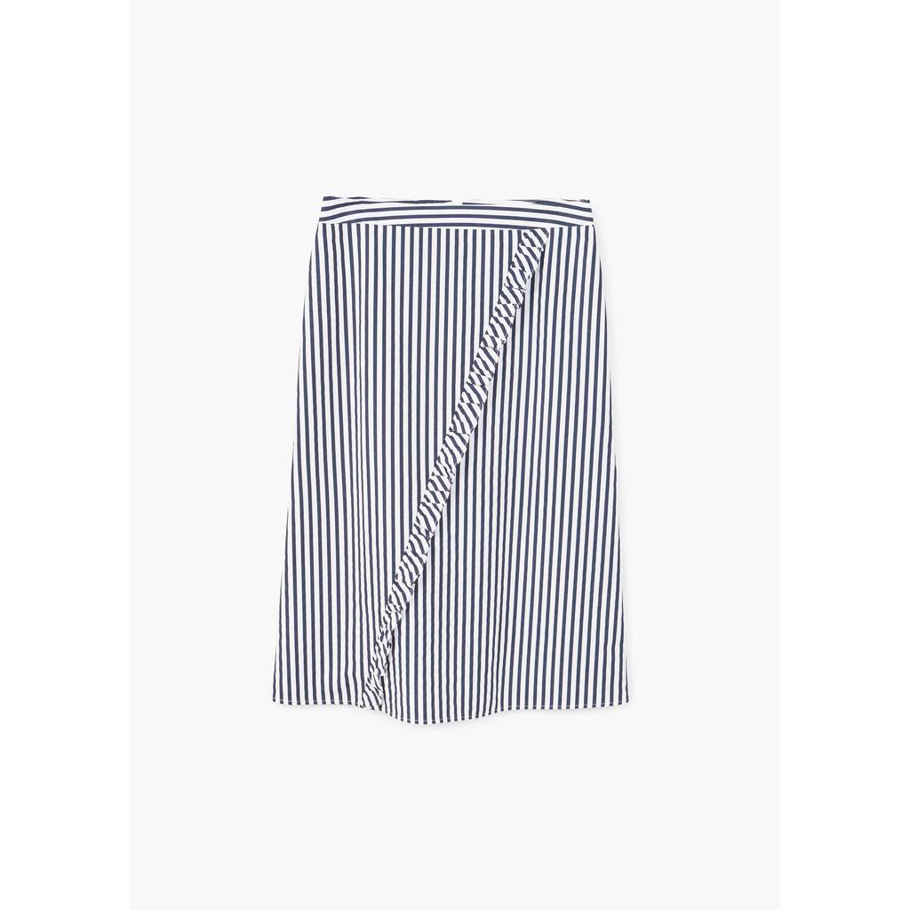 Chân váy Mango Nữ Ruffled striped - 11083036
