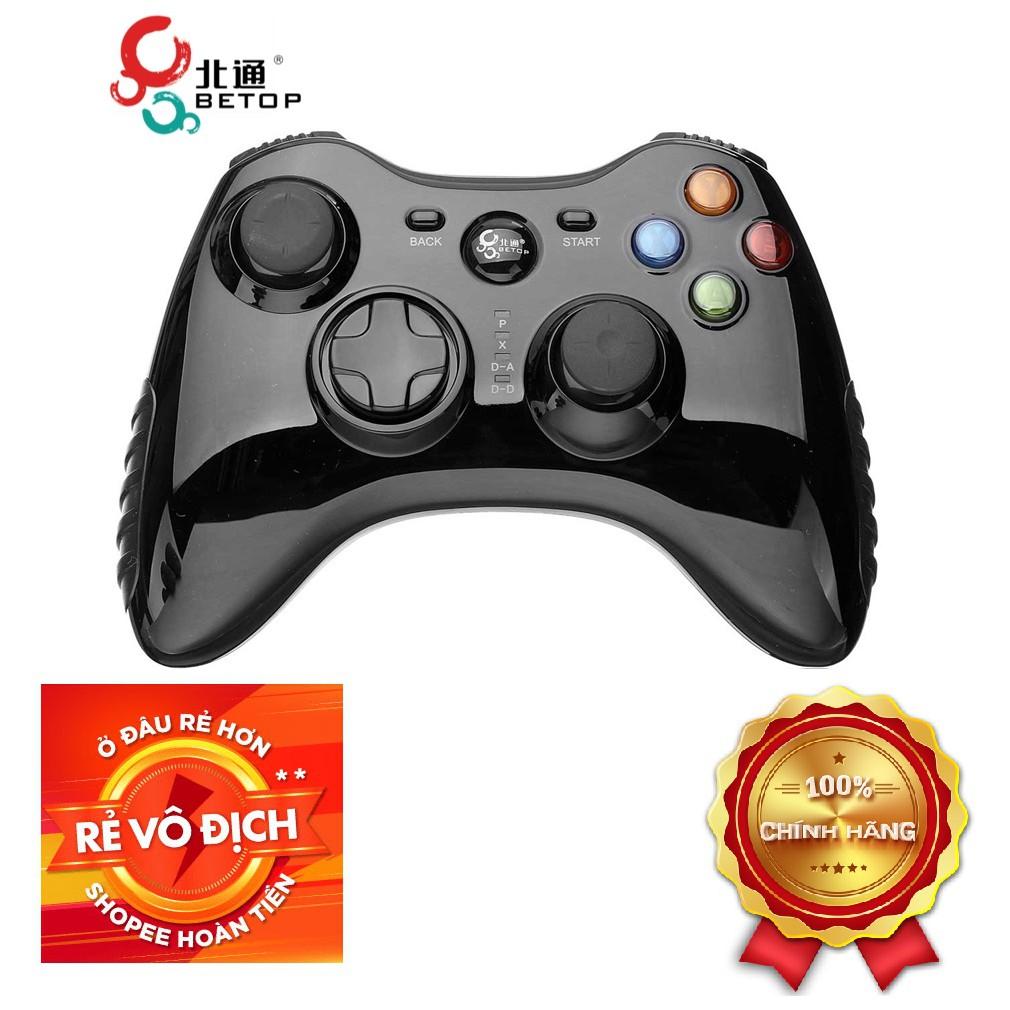 Tay game cho PC Betop 2175 Full box chuyên đá PES+FIFA cho game thủ+bảo hành 6 tháng+Hướng dẫn Setup  Game pad for PC