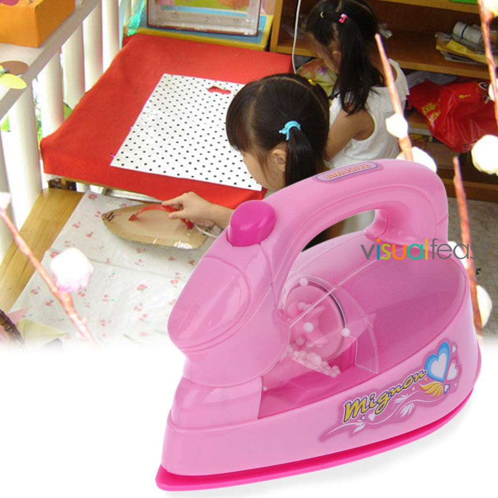 [Ready Stock/COD]Electric Iron Light-up Simulation Kids Children Play House Toy