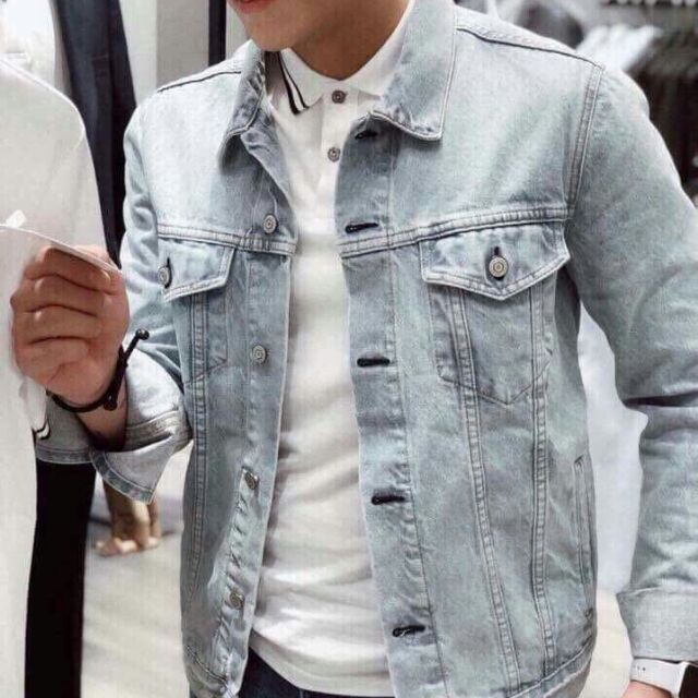 Áo Khoác Jeans Cao cấp màu bạc sang chảnh kèm hình thật Nhà KHoaiTay