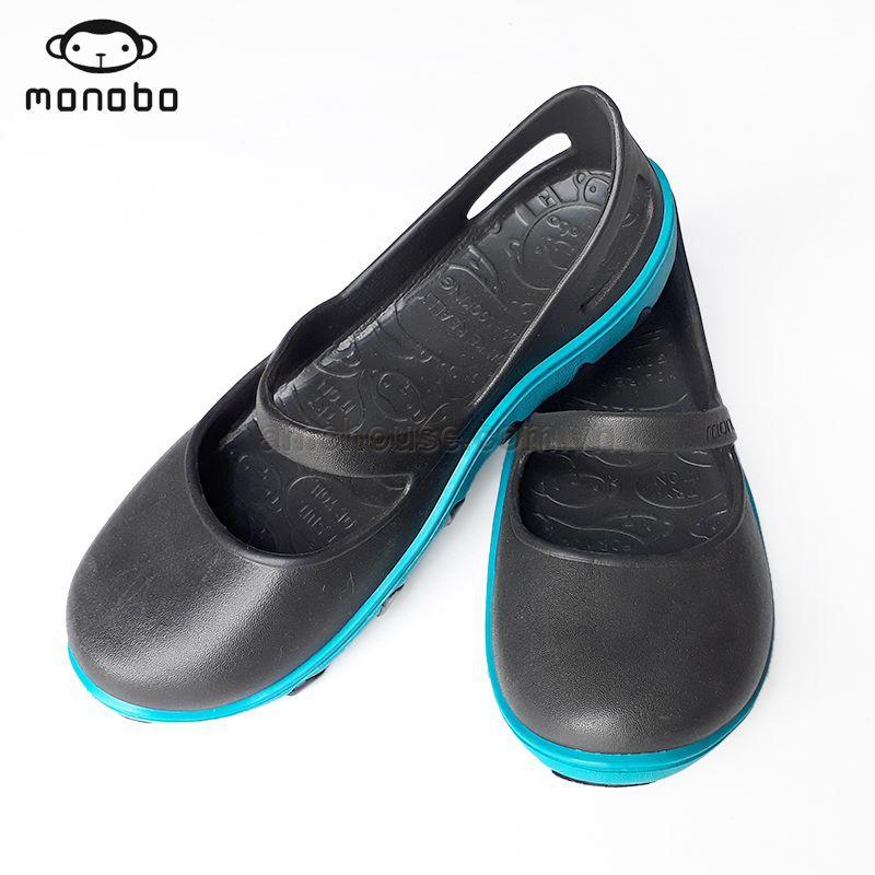 Giày nhựa nữ Thái Lan 2 lớp MONOBO - TAMMY - đen đế xanh