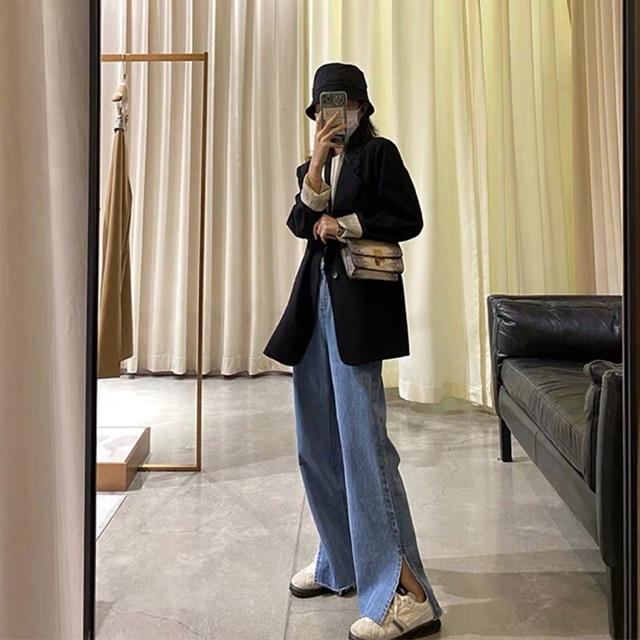 Quần jeans form đứng xẻ tà FullSize - order