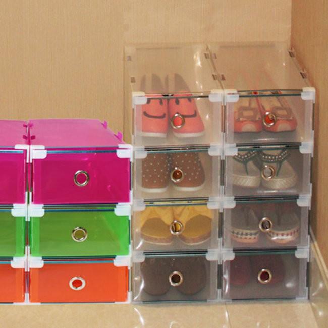 Combo 2 hộp đựng giày trong suốt có ngăn kéo