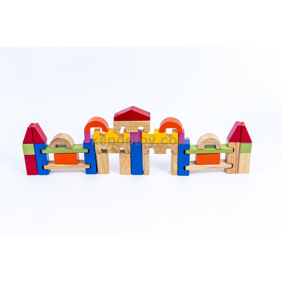 Đồ chơi xếp hình gỗ | Bộ xếp lâu đài