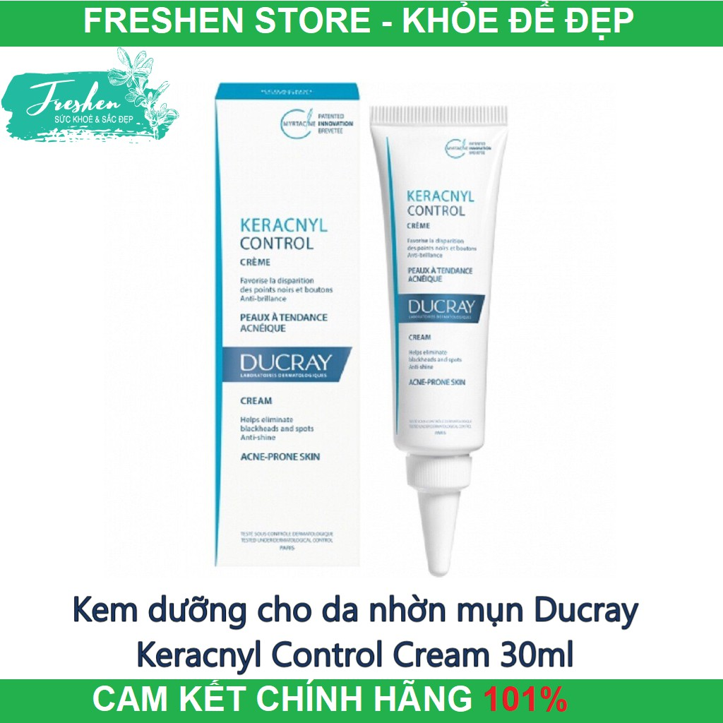 ✅[CHÍNH HÃNG] Kem dưỡng cho da nhờn mụn Ducray Keracnyl Control Cream 30ml