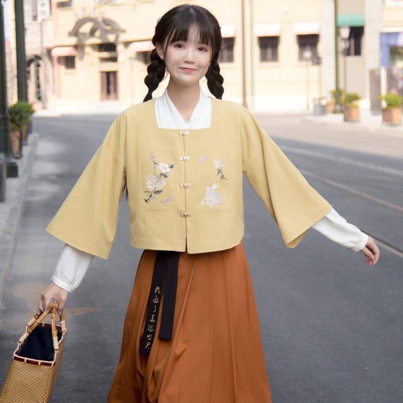 Set Áo Tay Lỡ Cổ Vuông + Chân Váy + Chân Váy Thời Trang Hè 2020 Cho Nữ