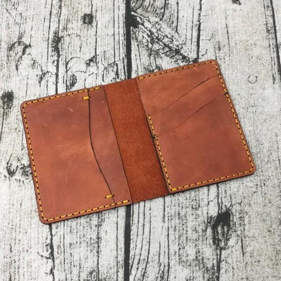 Ví nam mini đựng thẻ da bò handmade - Zachi
