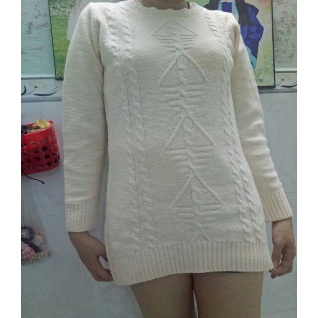 Áo len form dài