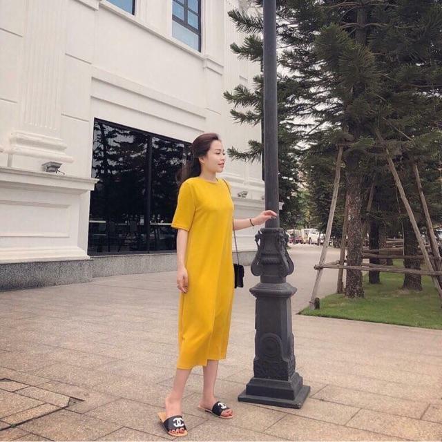 Váy cotton maxi
