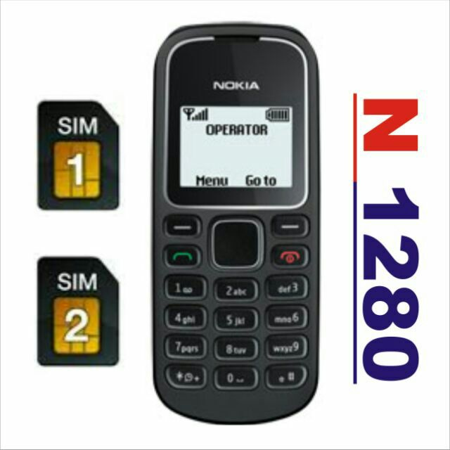 Điện Thoại Nokia 1280 Hot 2 Sim Chay Song Song