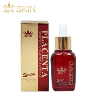 SERUM NHAU THAI CỪU PLACENTA WHITENING ANTI-WRINKLE AMPOULE ZELYN 30ML
