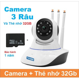 [COMBO] Camera wifi yoosee 3 râu+ Thẻ 32Gb