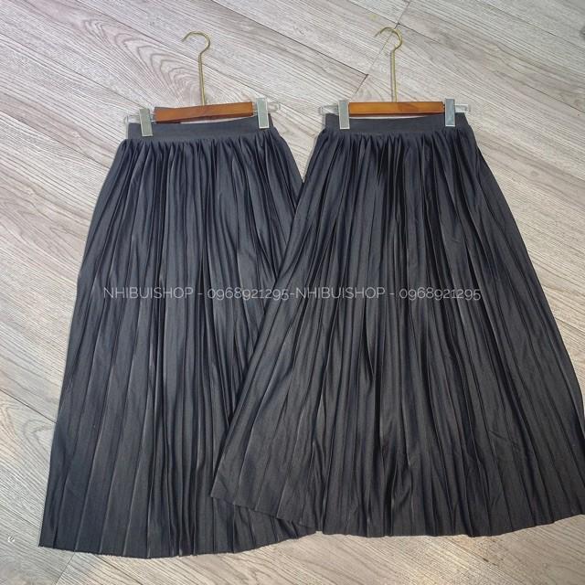 [ Giá Gốc ] Chân váy xếp ly dáng dài rẻ đẹp